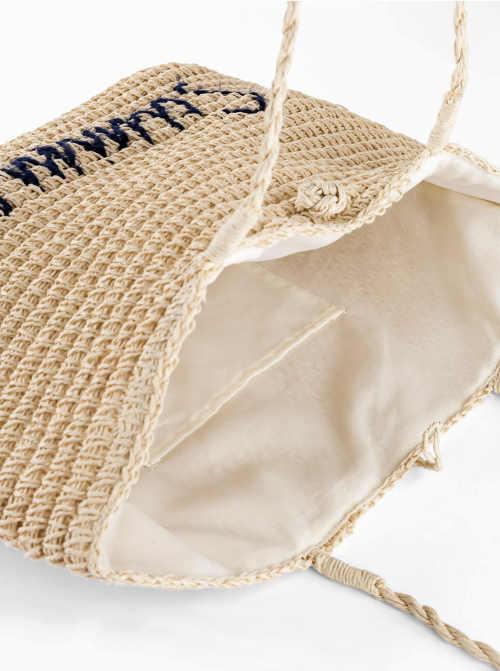 Prostorná dámská plážová taška