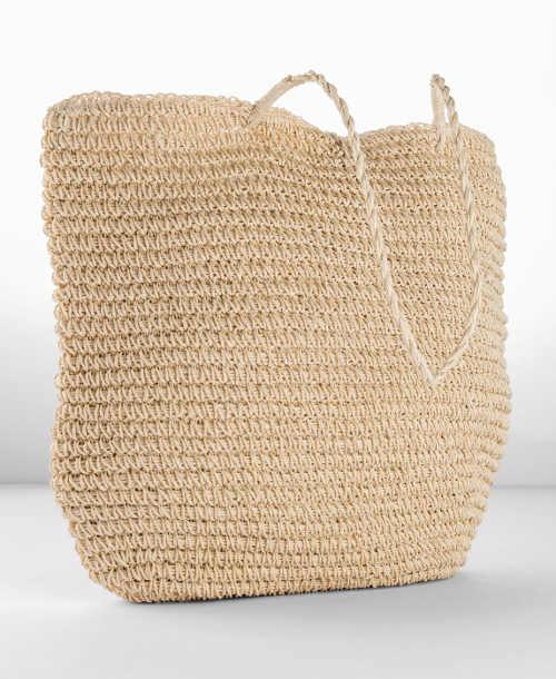 Velká háčkovaná plážová taška