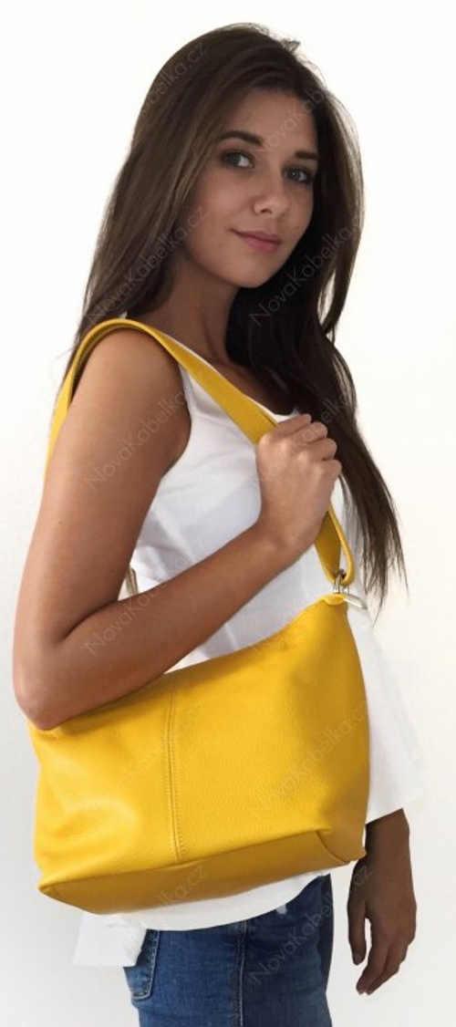 Žlutá dámská italská kabelka Batilda Gialla Chiaro