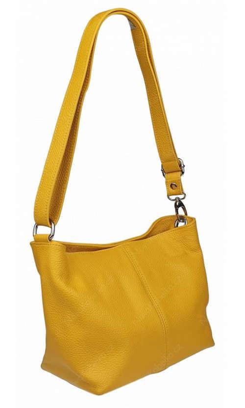 Žlutá kabelka nositelná jako crossbody