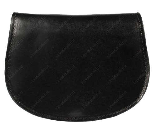 Černá kožená kabelka Mina Nera