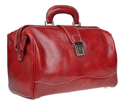 Červená kabelka do ruky z pravé kůže