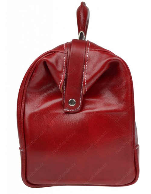 Dámská červená kožená kabelka Metteo Rosso