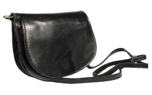 Malá černá kožená kabelka přes rameno nebo crossbody