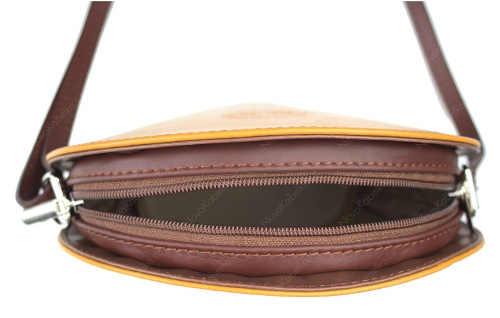 Malá crossbody kabelka s malou kapsičkou na zip