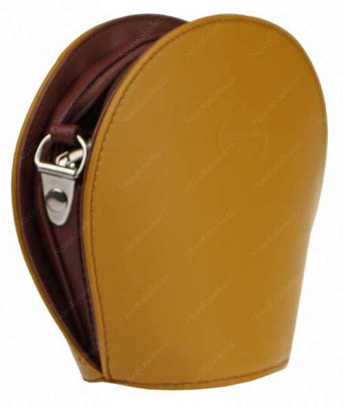 Malá italská kožená kabelka