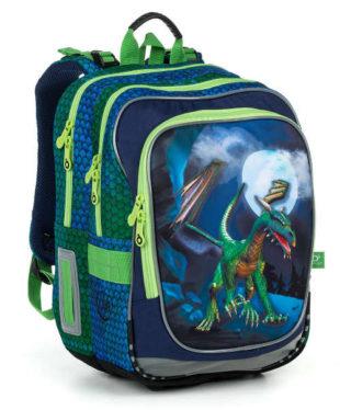 Modro-zelený školní batoh s drakem Topgal Endy