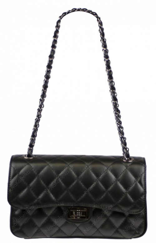 Nadčasová praktická kabelka černé barvy