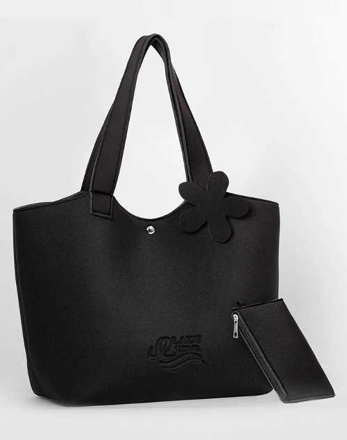 Černá neoprenová nepromokavá plážová taška