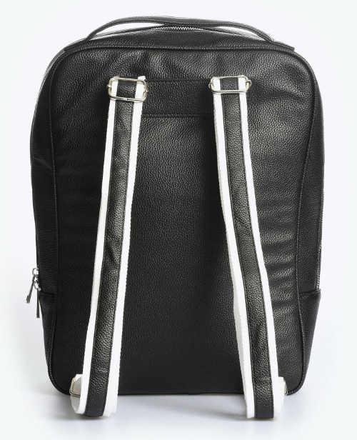 Černý dámský kožený batoh na notebook