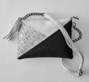 Dámské psaníčko s trojúhelníkovým vzorem