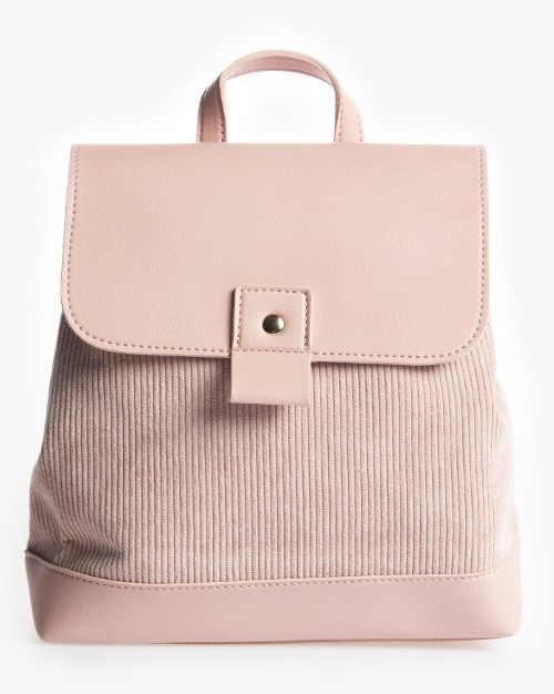Elegantní dámský růžový batoh