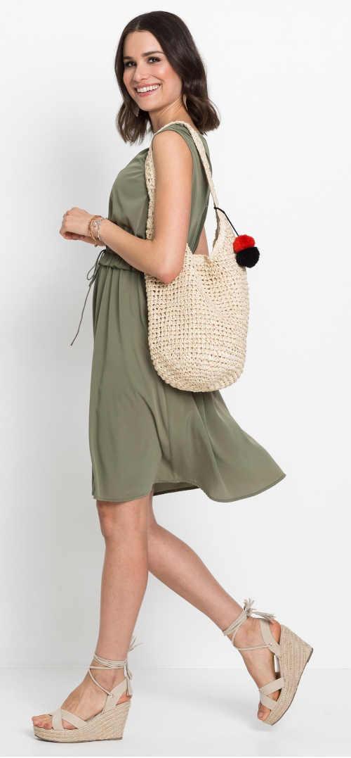 Háčkovaná plážová taška přes rameno