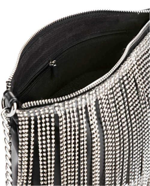 Ozdobné třásně kabelky z lesklých kamínků