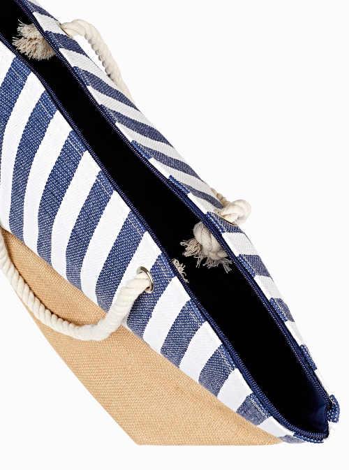 Praktická plážová taška se zapínáním na zip