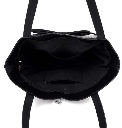 Prostorná shopper kabelka černé barvy