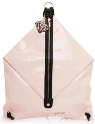Světle růžový batoh - vak na záda