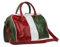 Třibarevná dámská kožená cestovní taška