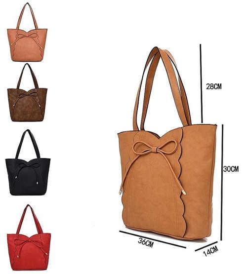 Velká dámská kožená shopper taška přes rameno