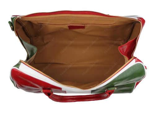 Zlevněná kožená dámská cestovní taška