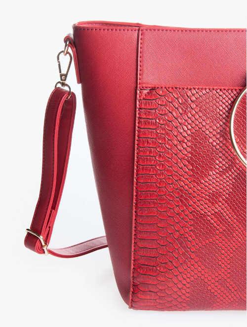 Zlevněná shopper kabelka motiv hadí kůže
