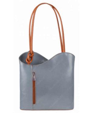 Moderní kožená kabelka přes rameno i jako batoh