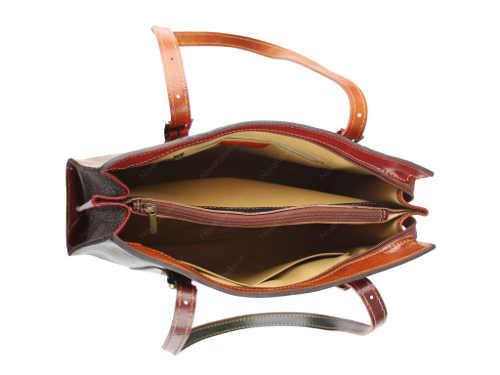 Praktická a nadčasová kožená kabelka