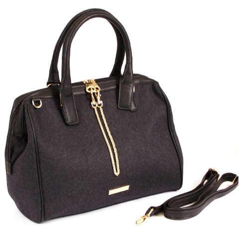 Prostorná černá kabelka do ruky
