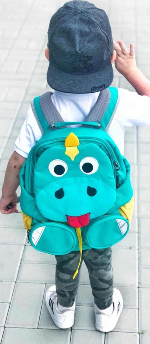 Batoh pro předškoláky s dinosaurem