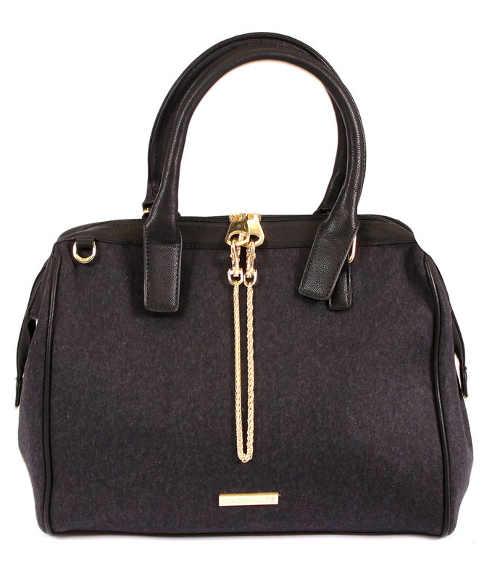 Černá kabelka do ruky MARIA MARE se zlatým řetízkem