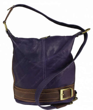 Kožená fialová kabelka přes rameno Adele Porposa