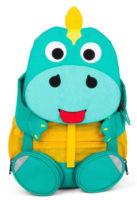 Veselý batůžek do školky tyrkysový dinosaurus