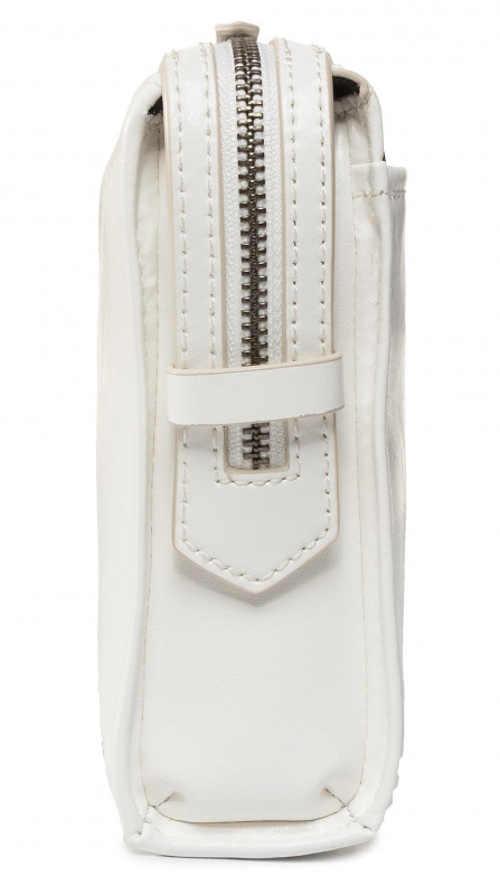 Bílá kabelka z pravé kůže sleva