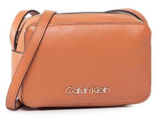 Malá béžová kožená kabelka CALVIN KLEIN Ck Must Camerabag