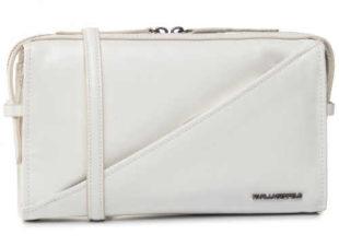 Menší bílá kožená kabelka KARL LAGERFELD