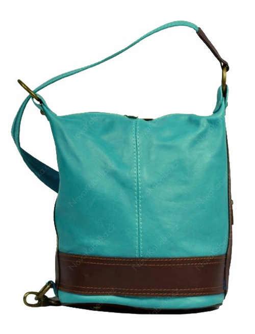 Moderní dámská kabelka modrá kůže