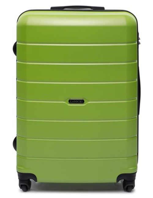 Prakticky nezničitelný kufr z plastu v zeleném barevném provedení