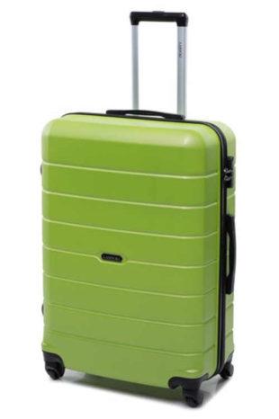 Zelený skořepinový kufr Lasocki střední velikost