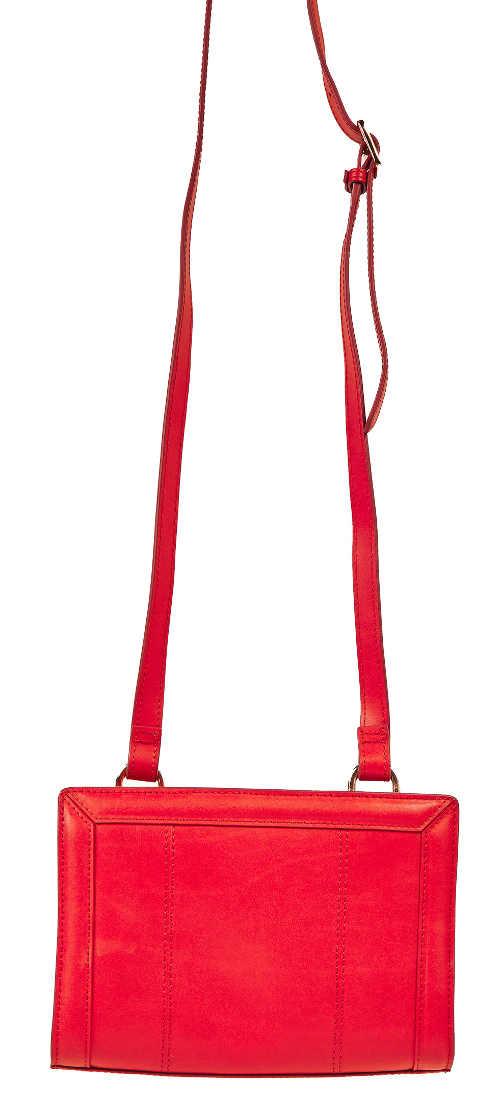 Červená dámská kabelka Gant s dlouhým popruhem