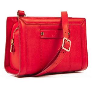 Elegantní červená dámská kabelka Gant z hladké usně