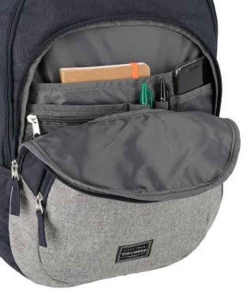 Modro-šedý pánský městský batoh