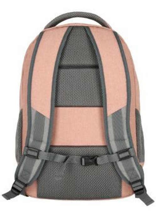 Růžovo-šedý dámský městský batoh