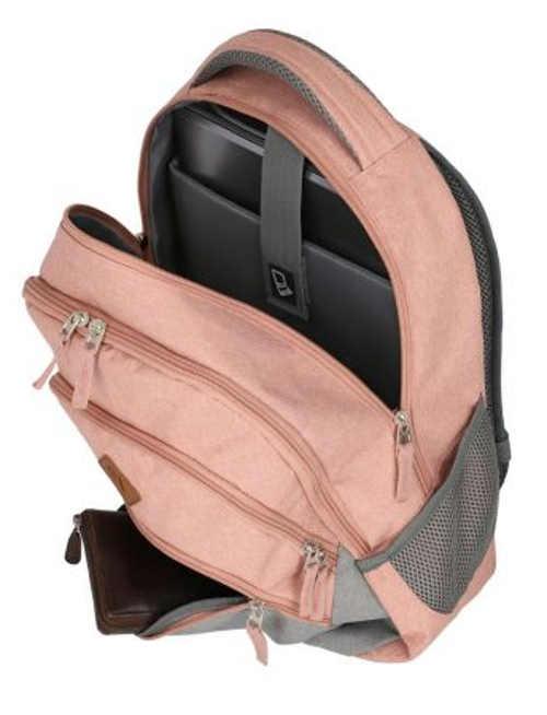Růžový dámský cestovní batoh na notebook