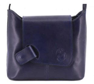 Tmavě modrá kožená crossbody kabelka Arteddy