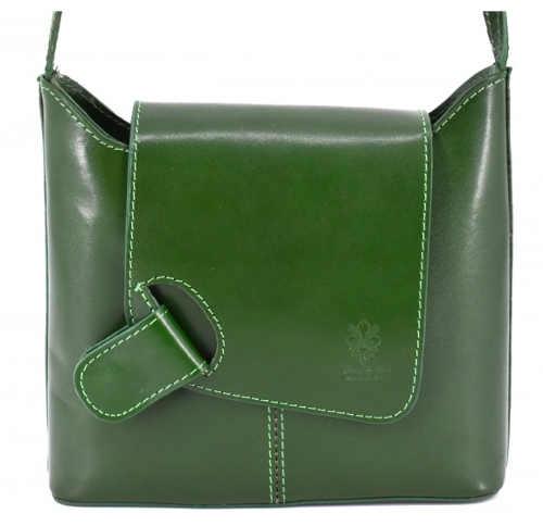 Zelená dámská menší crossbody kabelka