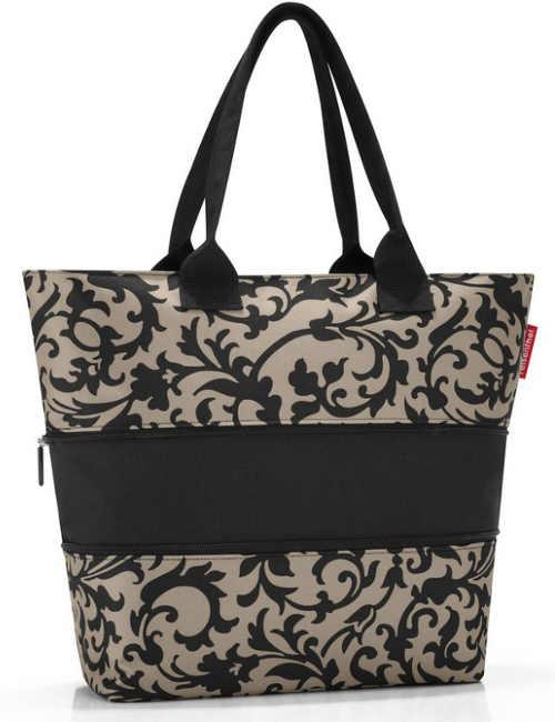 Zvětšovací nákupní kabelka pomoci rozepínacích zipů