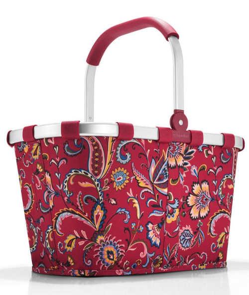 Nákupní košík Carrybag Paisley ruby